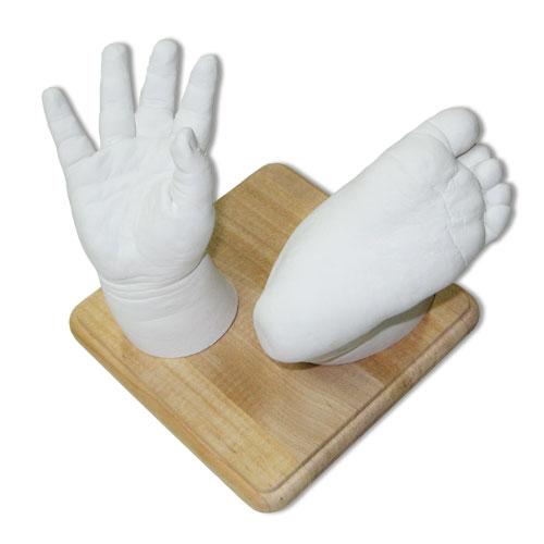 Набор для слепка ножки и ручки 3D, деревянная подставка