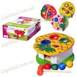Деревянная игрушка Стучалка, 2 вида, в кор. 17*15*12,5см
