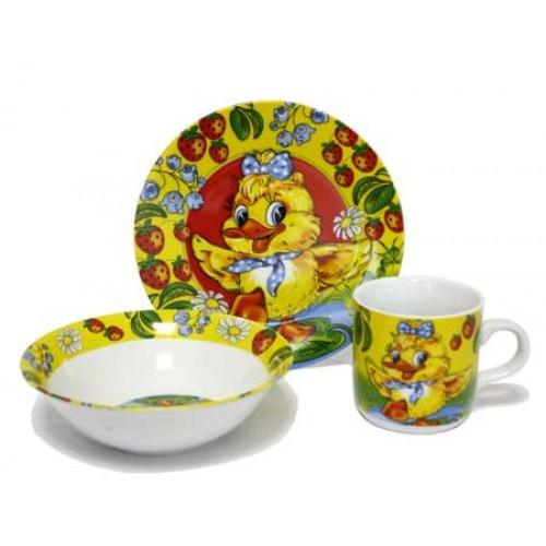 Детская посуда фарфор Утенок купить