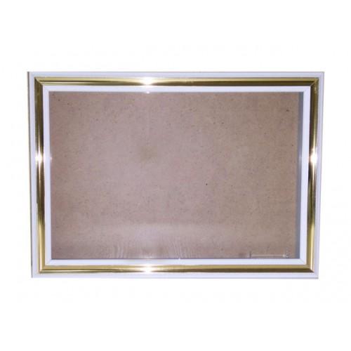 Рама для слепков 20*30, белая с золотом