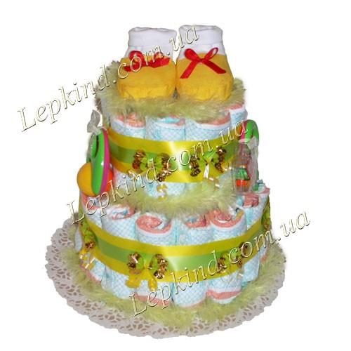 Купить торт из памперсов универсальный Золотой сон в Днепропетровск, Запорожье, Николаев, Украина
