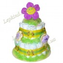 "Торт 2х. этажный ""Салатовый цветок"""