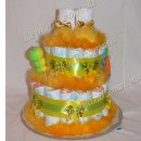 Торт 2х. ярусный универсальный оранжевый