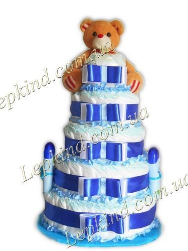 Торт из памперсовй для мальчика