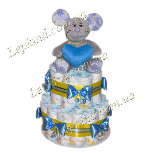 Торт из подгузников Мышка-норушка купить в Днепропетровск, Луганск, Одесса, Херсон, Украина