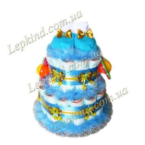 Сделать торт из памперсов для мальчика Мальчуган в  Днепропетровск, Киев, Донецк, Харьков и другие города Украины