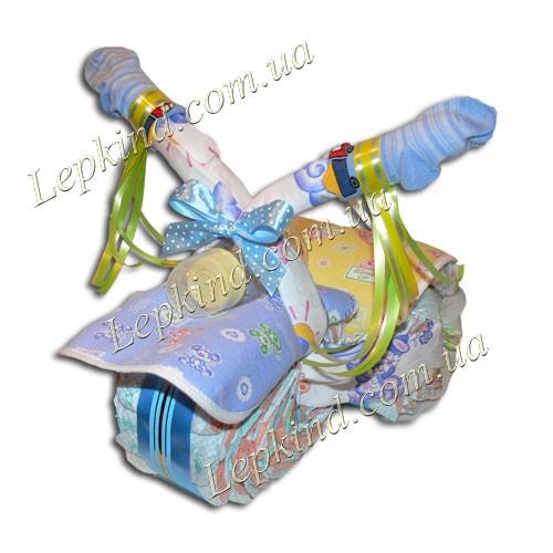 Торт из памперсов новорожденному мальчику Мотоцикл - Киев, Харьков, Донецк, Одесса, Днепропетровск