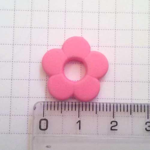 Неоновый цветок, 2 см, светло-розовый
