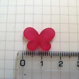 Бабочка 1,5 см, малиновая