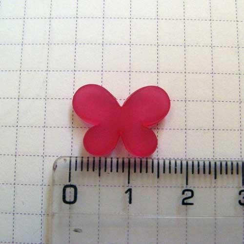 Декор для слепков Бабочка 1,5 см, малиновая