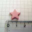 Звезда 1,3 см, розовая