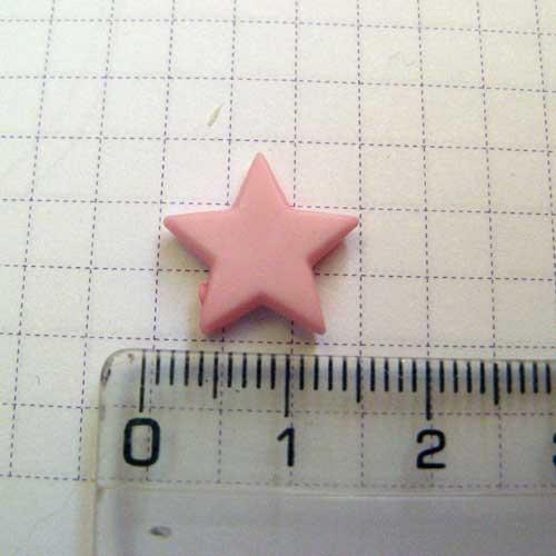 Слепок с декором Звезда 1,3 см, розовая