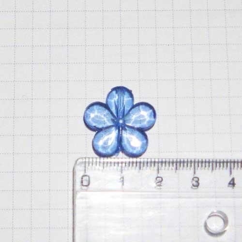 Цветок 2 см, светло-синий
