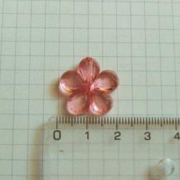Цветок 2 см, малиновый
