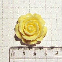 Роза, 3 см, кремовая