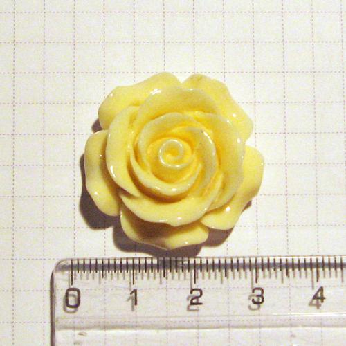 Слепки малыша - оформление подставки и декор: Роза, 3 см, кремовая
