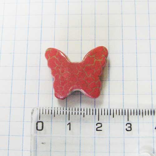 Декор для слепков Бабочка 2 см, розовая, кракелюр