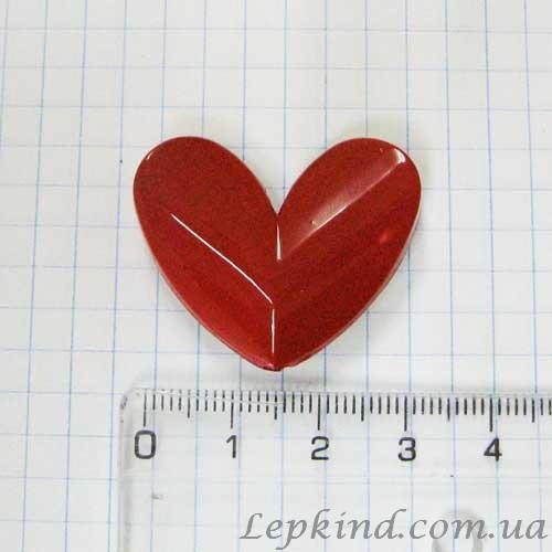 Слепок Руки влюбленных и декор Сердце 3,5 см, красное