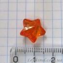 Звезда 1,5 см, оранжевая