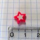 Звезда 1 см, розовая