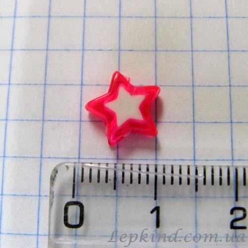 Слепки с декором Звезда 1 см, розовая купить