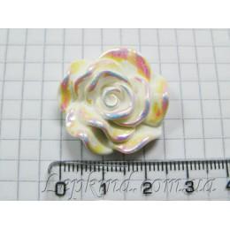 Роза, 3 см, радужная