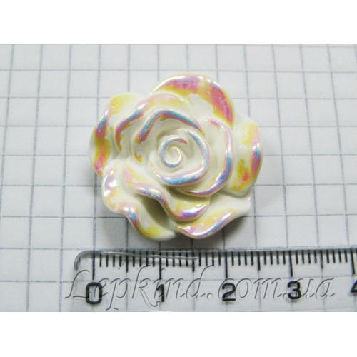 Слепки малыша - оформление подставки и декор: Роза, 3 см, радужная