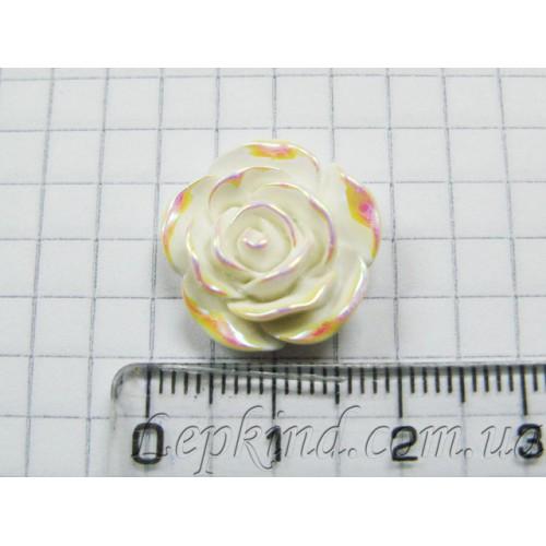 Слепки детских ручек и ножек своими руками, декор Роза, 2 см, радужная