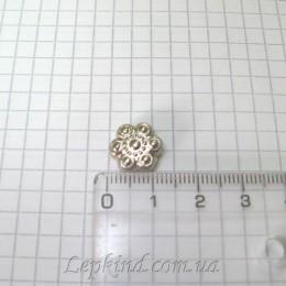 Цветок 1,2 см, серебро