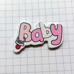 Надпись BABY розовая