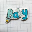 Надпись BABY голубая