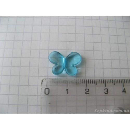 Декор для слепков Бабочка 1,5 см, голубая