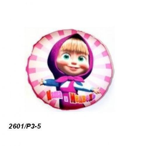 Подушка-антистресс, розовая, диаметр 22 см (12шт)