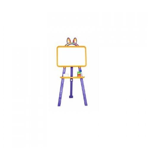 Мольберт для малювання магнітна (для мела и маркера), жовто-фіолетовий, у кор. 50*45*8см (8шт)