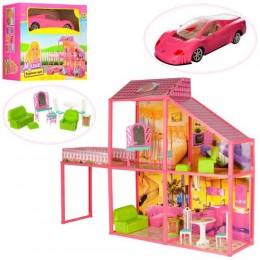 Домик 105*80*23,5см, 2 эт., 4 комн., для куклы 29см, мебель, маш. 45см, 99дет.,в кор.55,5*50см(3шт)