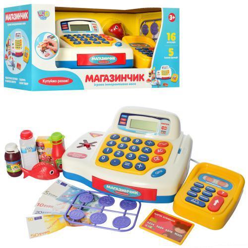 Кассовый аппарат, калькулятор, зв.(укр), св., продукты, батар., в кор.43*18*18см(12шт)