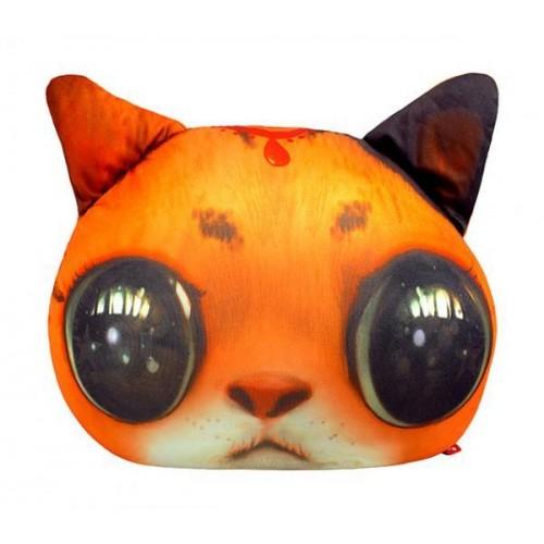 """Антистрессовая игрушка мягконабивная """"SOFT TOYS """"Кіт глазастий"""" рыжий, 40*30см"""