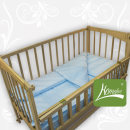 Комплект постельного белья в дет. кроватку, ранфос-голубой, в сумке 39*39см, ТМ Homefort