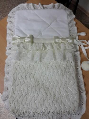 Конверт зимний вязаный для новорожденного, купить в Винница, Черкассы, Чернигов, Киев, Украина