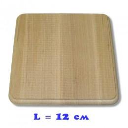 Подставка деревянная квадратная с фрезой
