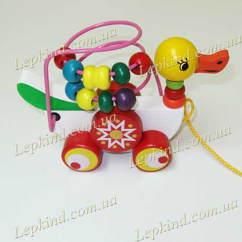 игрушка каталка деревннная с лабиринтом