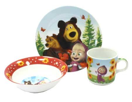 Набор детской посуды Маша и медведь
