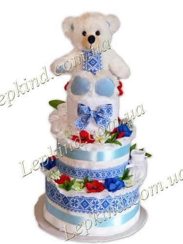 торт з памперсів підгузників Український